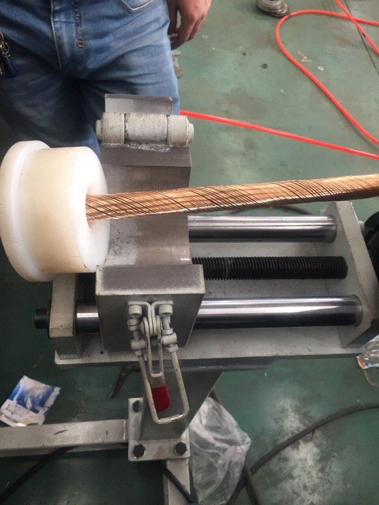 Линия для проволочной брони-спиральная обмотка 18+18
